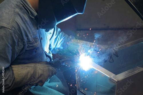 Valokuvatapetti welding