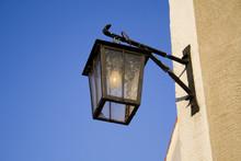 Lamp On Blue Sky
