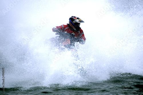 Garden Poster Water Motor sports sea of spray