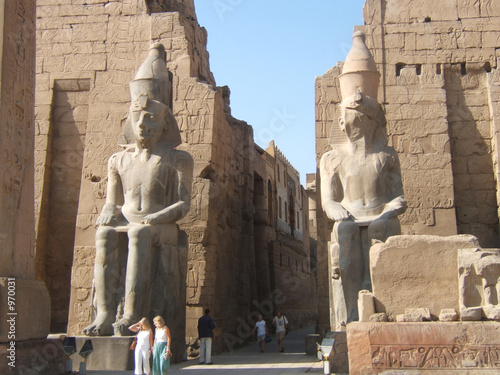 Tuinposter Egypte entrance to the temple of luxor