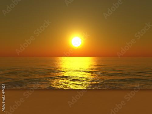 Photo Stands Cuban Red sunset beach