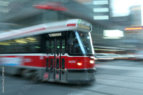Photo  moving streetcar