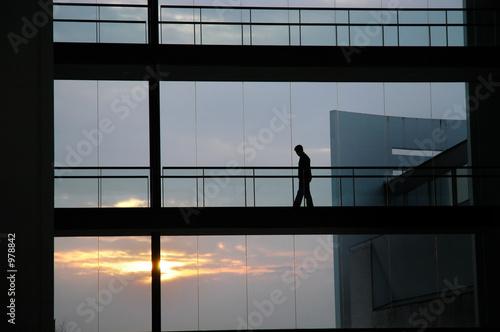 In de dag Luchthaven silhouette