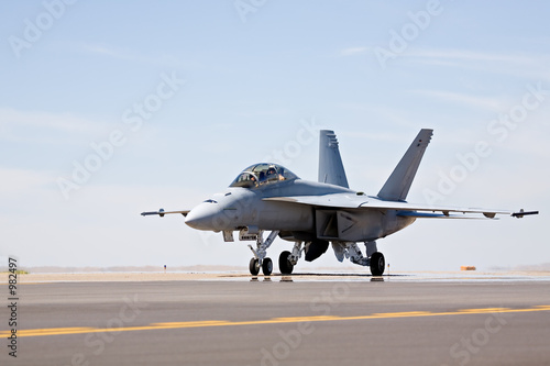 f-18 hornet taxiing Canvas Print