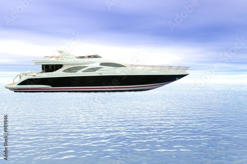 Garden Poster Water Motor sports yacht