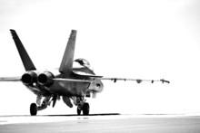 F18 Taxiing Bw