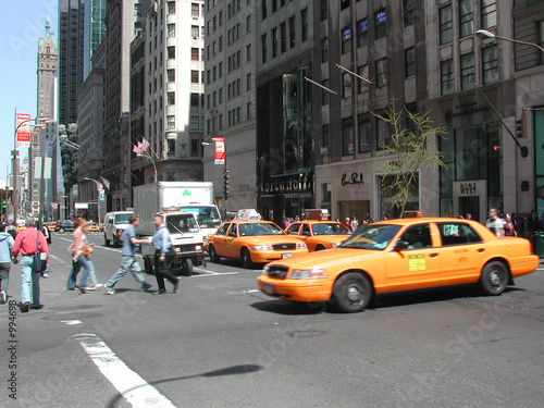 Foto auf AluDibond New York TAXI yellow cab