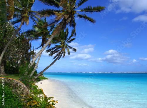 Foto-Schiebegardine Komplettsystem - island lagoon