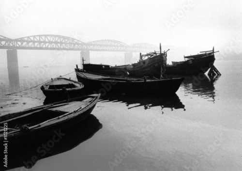 Photo sur Plexiglas Forme boats on the ganges