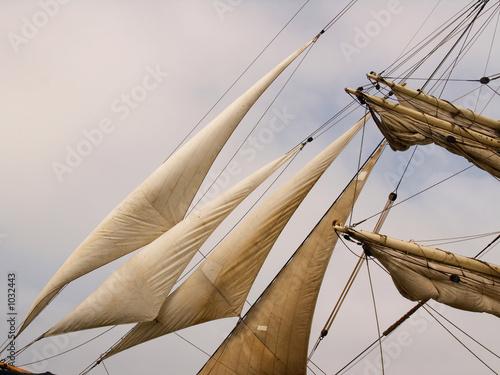 Canvas Prints Ship sail closeup