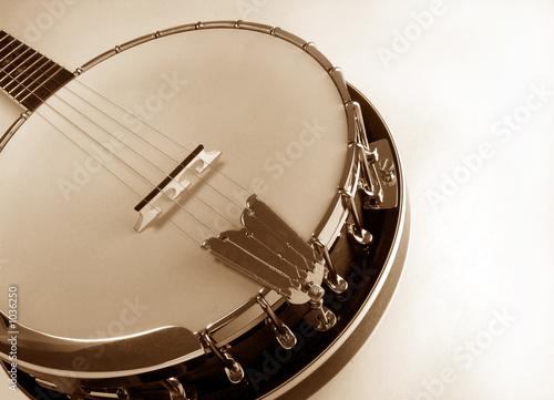 Photo banjo at angle