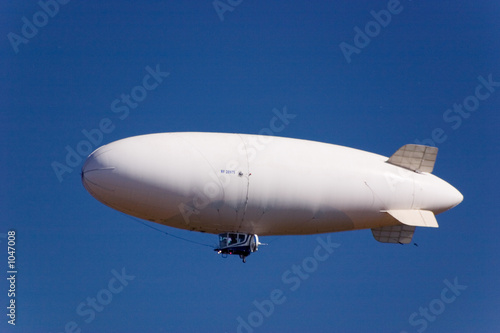 white dirigible Canvas Print