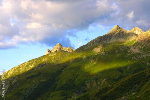 Printed kitchen splashbacks Coast morgenlicht in den bergen