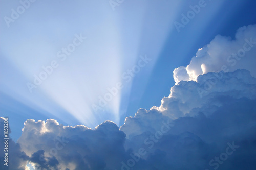 Foto Rollo Basic - sun rays (von George Bailey)