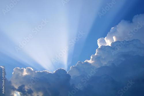 Foto-Leinwand - sun rays (von George Bailey)