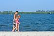 sandbar beach walk