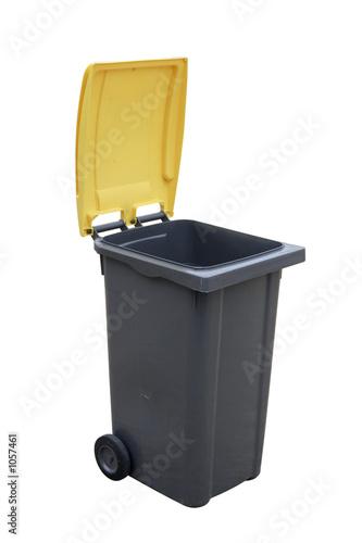 Photo poubelle ouvert
