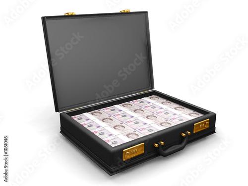 briefcase full of money Fototapeta