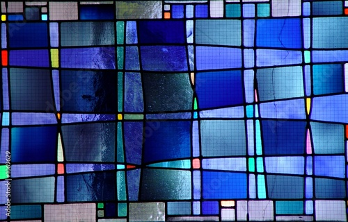 Fotografie, Obraz  modern stained glass window