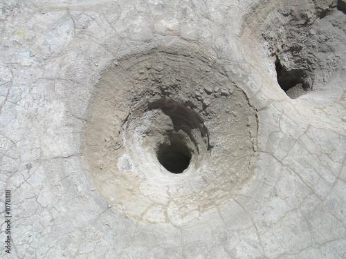 Tableau sur Toile volcano crater hole