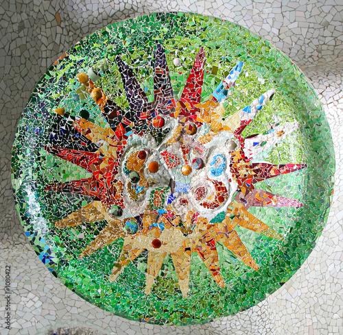 random mosaic pattern Canvas Print