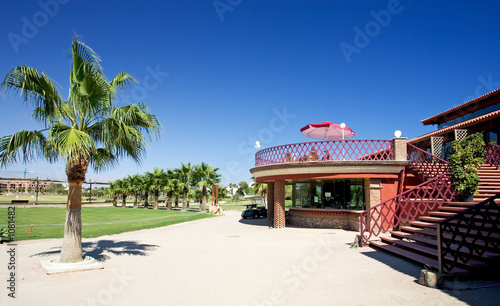 Fotografie, Tablou playa serena golf clubhouse on the costa del almeria