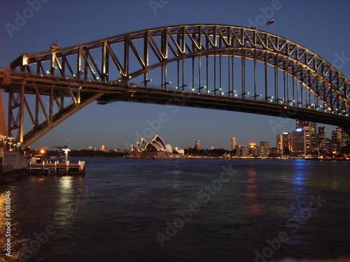 Staande foto Sydney sydney in der dämmerung