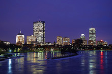 Winter Boston Skyline