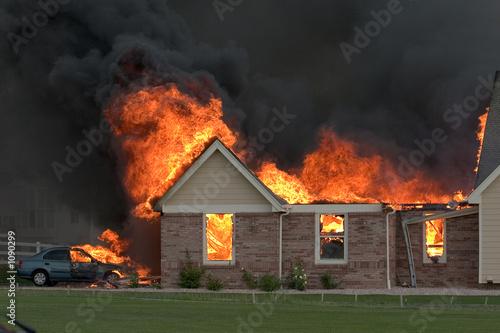 Fotografie, Obraz  house fire 3
