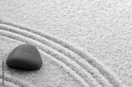 Poster Zen pierres a sable jardin zen