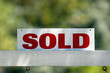 canvas print picture - real estate sold
