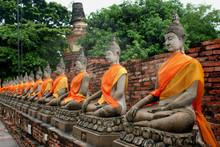 Boudhas Ayutaya Thailande