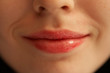 canvas print picture - lips of the girl