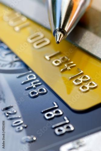 Fotografía  credit card background