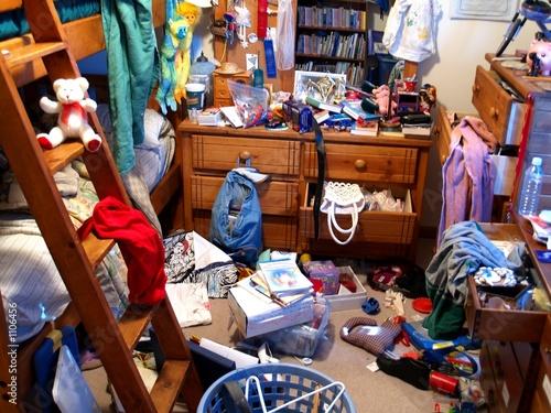 Fotomural  Dormitorio desordenado