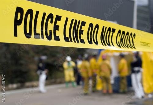 Tela police line-hazmat