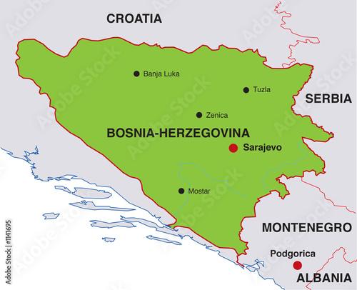 Karta Bosnien Och Hercegovina.Fototapet Karta Bosnien Hercegovina Fototapeter Hos Familjetapeter