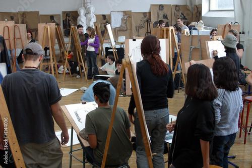 atelier de dessin Canvas Print