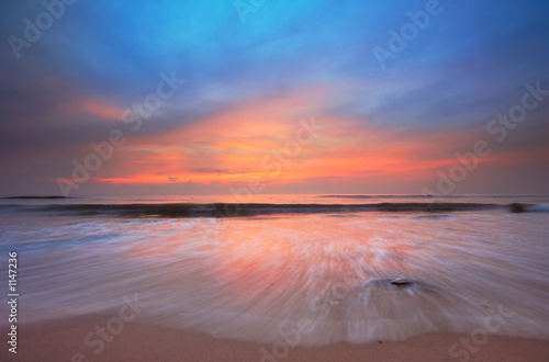 Foto op Aluminium Strand sunset on the beach