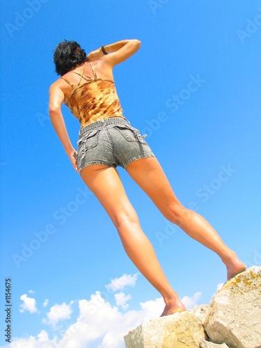 girl in the sky Wallpaper Mural
