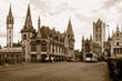 canvas print picture - gothic buildings