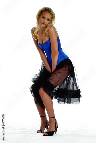 Fotografie, Obraz frau mit petticoat