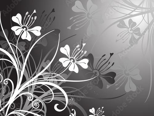 Staande foto Bloemen zwart wit floral design