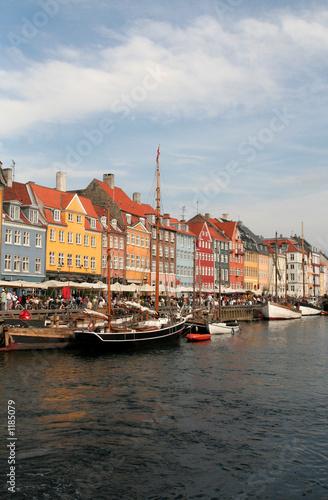 Photo  copenhagen, denmark, nyhavn harbour