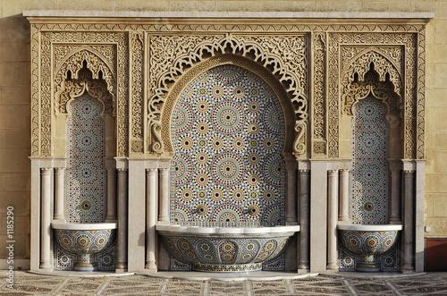 Poster Maroc fontaine