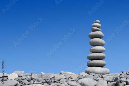 Doppelrollo mit Motiv - stone tower