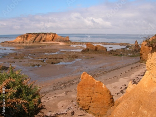 Fotografie, Obraz maree basse en bretagne