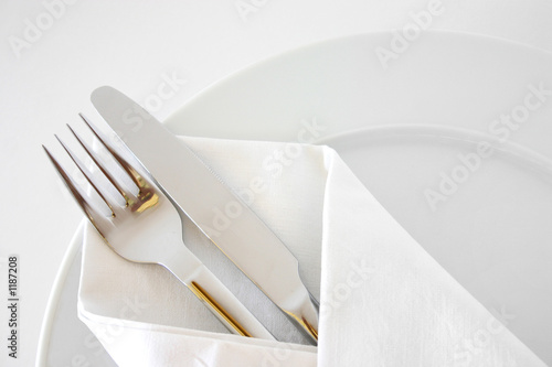 Photo sur Toile Plat cuisine place setting