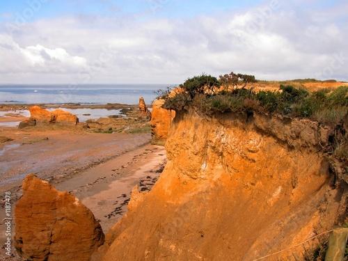 Fotografie, Obraz belles falaises et maree basse