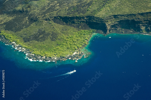 Spoed Foto op Canvas Eiland big island aerial shot - kealakekua bay